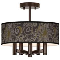 Stacy Garcia Ornament Metal Ava Bronze Ceiling Light