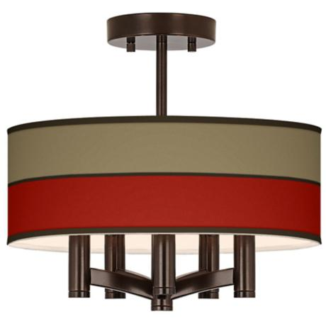 Empire Red Ava 5-Light Bronze Ceiling Light