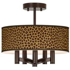 Safari Cheetah Ava 5-Light Bronze Ceiling Light