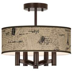 Letters to Paris Linen Ava 5-Light Bronze Ceiling Light
