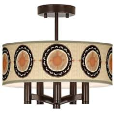 Travelers Compass Ava 5-Light Bronze Ceiling Light