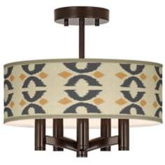 Los Lunas Ava 5-Light Bronze Ceiling Light