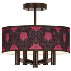 Stacy Garcia Florentia Wild Berry Ava Bronze Ceiling Light
