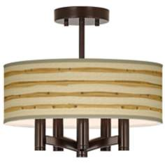 Bamboo Wrap Ava 5-Light Bronze Ceiling Light