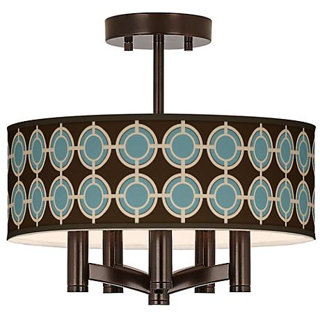 Stacy Garcia Porthole Ava 5-Light Bronze Ceiling Light