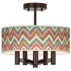Canyon Waves Ava 5-Light Bronze Ceiling Light
