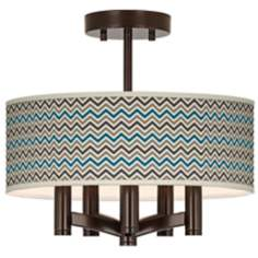 Zig Zag Ava 5-Light Bronze Ceiling Light