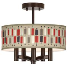 Bounce Ava 5-Light Bronze Ceiling Light