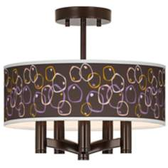 Linger Ava 5-Light Bronze Ceiling Light