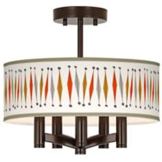 Tremble Ava 5-Light Bronze Ceiling Light