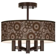 Industrial Gears Ava 5-Light Bronze Ceiling Light
