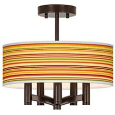 Stacy Garcia Harvest Stripe Ava Bronze Ceiling Light