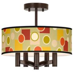 Retro Citrus Medley Ava 5-Light Bronze Ceiling Light