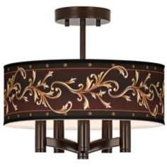 Athenian Leaf Ava 5-Light Bronze Ceiling Light