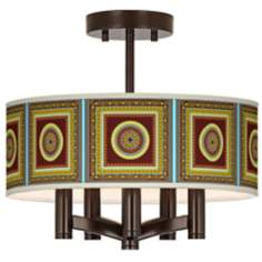 Tiber Medallion Garnet Ava Bronze Ceiling Light