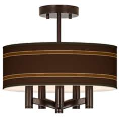 Saratoga Stripe Ava 5-Light Bronze Ceiling Light