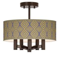 Deco Revival Ava 5-Light Bronze Ceiling Light