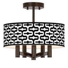 Reflection Ava 5-Light Bronze Ceiling Light
