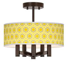 Honeycomb Ava 5-Light Bronze Ceiling Light