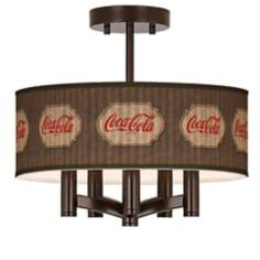 Coca-Cola® Vintage Brown Ava 5-Light Ceiling Light