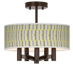 Side By Side Ava 5-Light Bronze Ceiling Light