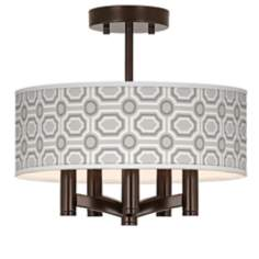Luxe Tile Ava 5-Light Bronze Ceiling Light
