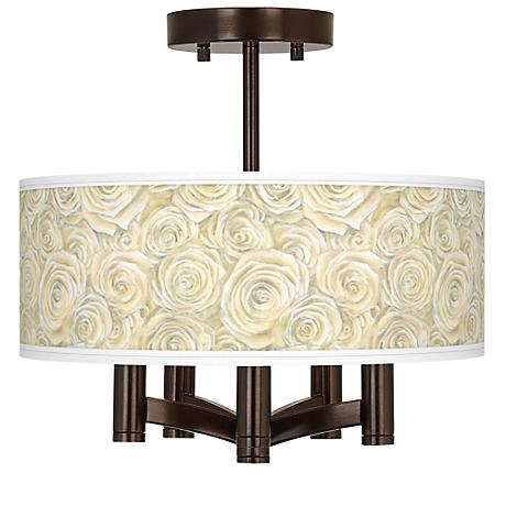 Cream Roses Ava 5-Light Bronze Ceiling Light