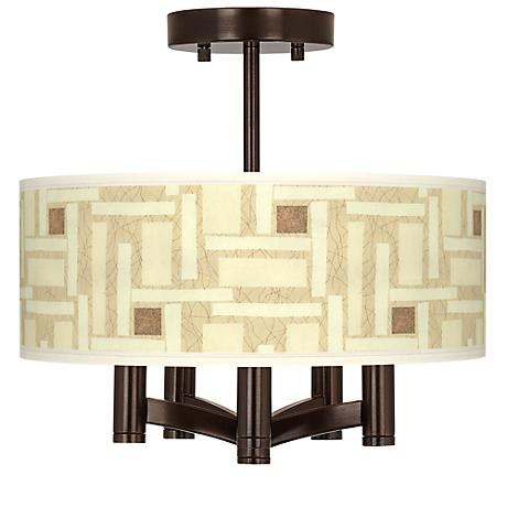 Organic Strands Ava 5-Light Bronze Ceiling Light