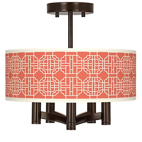 Mandarin Ava 5-Light Bronze Ceiling Light