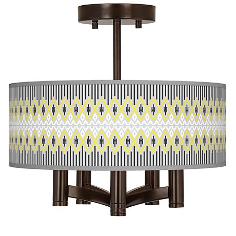 Desert Geometric Ava 5-Light Bronze Ceiling Light