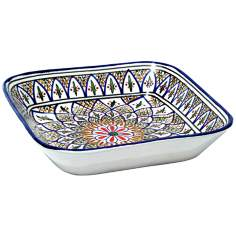 Le Souk Ceramique Tabarka Design Square Serving Bowl