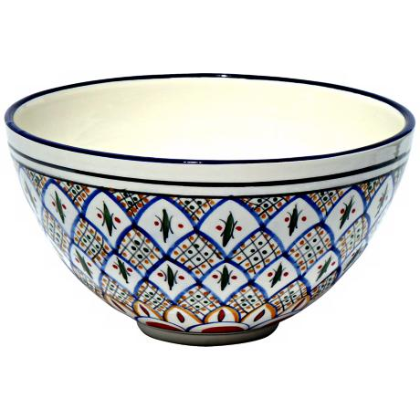 Le Souk Ceramique Tabarka Design Deep Salad Bowl