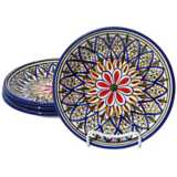 Le Souk Ceramique Set of 4 Tabarka Design Side Plates