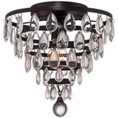 "Supresa Crystal 11"" Wide Oil-Rubbed Bronze Ceiling Light"