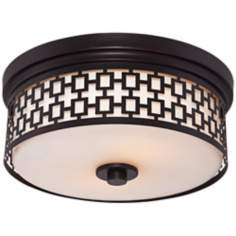 "Safi Trellis 13 1/2"" Wide Oil-Rubbed Bronze Ceiling Light"