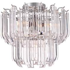 "Tylla 13"" Wide Chrome Ceiling Light"