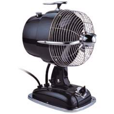 "9 1/2"" Wide Mysterious Black Urbanjet Table Fan"