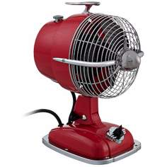 "9 1/2"" Wide Urbanjet Spicy Red Table Fan"