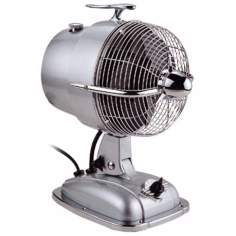 "9 1/2"" Wide Urbanjet Sonic Silver Table Fan"
