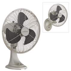 "14 1/2""  Wide Satin Nickel Portbrook Wall or Table Fan"