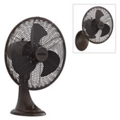"14 1/2""  Wide Oil-Rubbed Bronze Portbrook Wall or Table Fan"