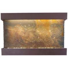 "Classic Quarry Raja Slate 51"" Wide Coppervein Wall Fountain"