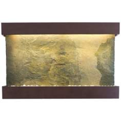 "Classic Quarry 51"" High Jera Slate Coppervein Wall Fountain"