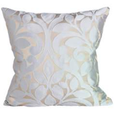 "Lillian Haze 18"" Square Down Throw Pillow"