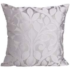 "Lillian Steel 18"" Square Down Throw Pillow"