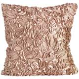 "Duke Champagne Ruffles 18"" Square Down Throw Pillow"