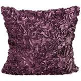"Duke Purple Ruffles 18"" Square Down Throw Pillow"
