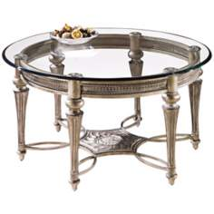 Galloway Brushed Pewter Round Cocktail Table