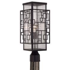 "John Timberland Squares 18 1/2"" Bronze Outdoor Post Light"