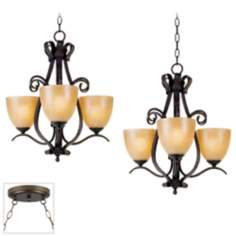 Modella Bronze Double Swag Chandelier